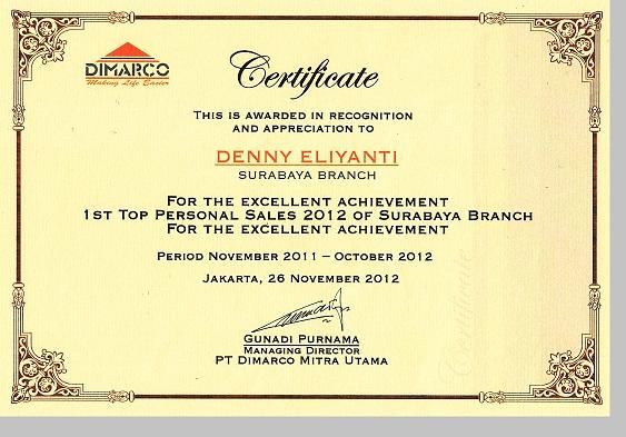 sertifikat surabaya 2013